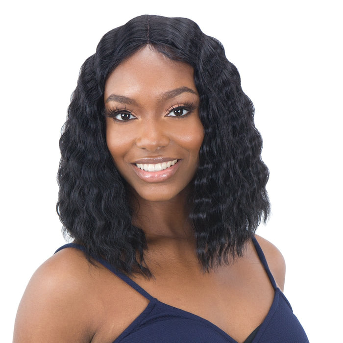 DEEP WAVER 001 | Synthetic Lace Front Wig - Hair to Beauty | Color Shown: 1B