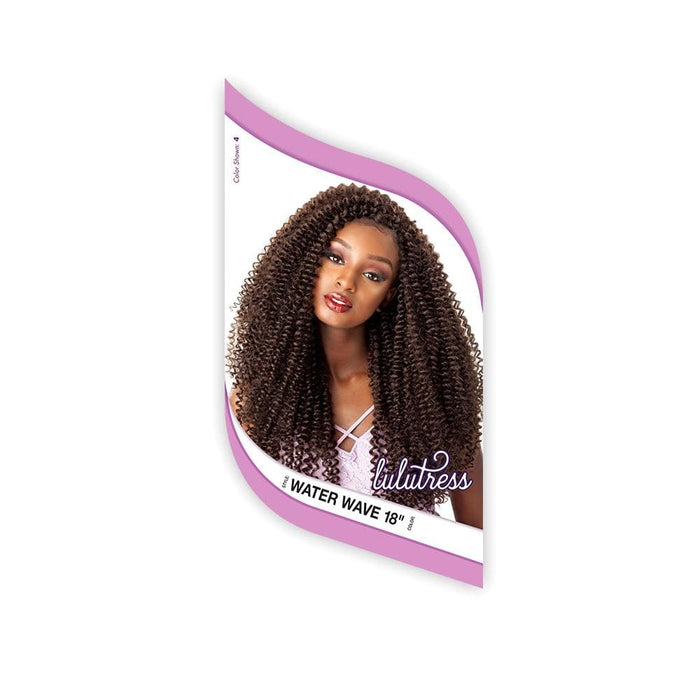 WATER WAVE 18 INCH | Sensationnel Lulutress Synthetic Crochet Braid - Hair to Beauty | Color Shown : 4