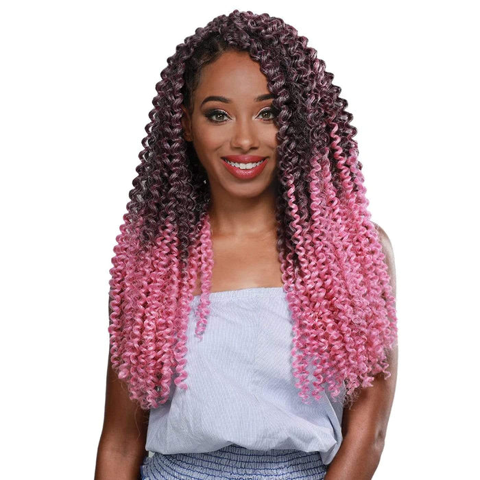 GOGO CURL BRAID 3X | Zury Sis Pre-Stretched Synthetic Crochet Braid - Hair to Beauty | Color Shown: SOM PINK