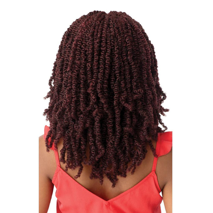 WAVY BOMB TWIST 18 | X-Pression Twisted Up Lace Front Braid Wig - Hair to Beauty | Color Shown: M1B/425