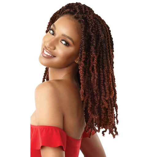 WAVY BOMB TWIST 12 Inch | Outre X-Pression Twisted Up Synthetic Braid - Hair to Beauty | Color Shown : 2T1B/350