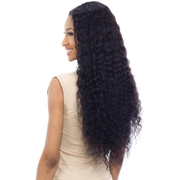 DEEP WAVE 30 Inch | Naked Brazilian Natural 100% Human Hair Lace Part Wig (Wet & Wavy) - Hair to Beauty | Color Shown : NATURAL