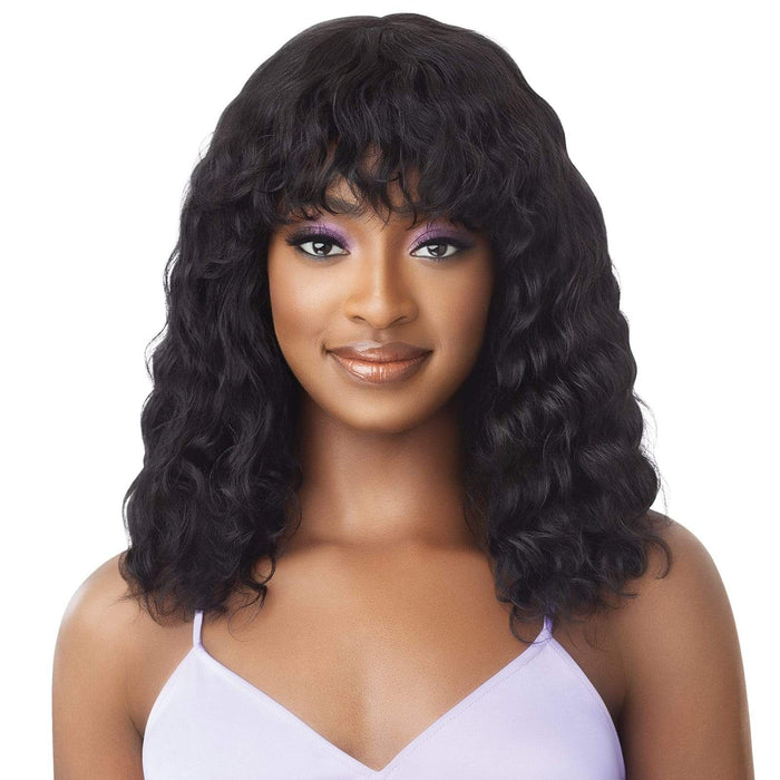 BODY WAVE 18 INCH - Outre Mytresses Purple Label Wet&Wavy Unprocessed Human Hair Wig - Hair To Beauty | Color Shown : Natural Brown