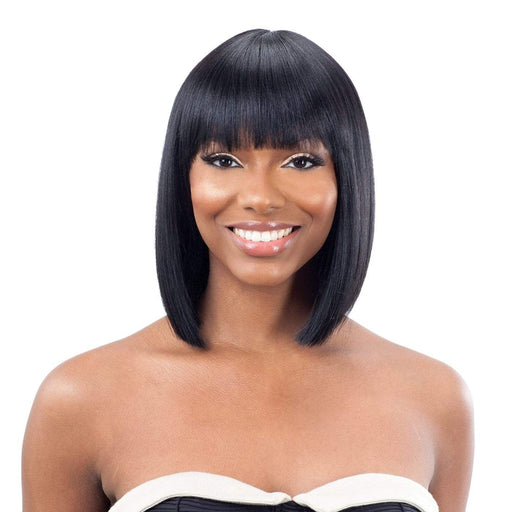 LITE WIG 001 | Synthetic Wig - Hair to Beauty | Color Shown: 1B