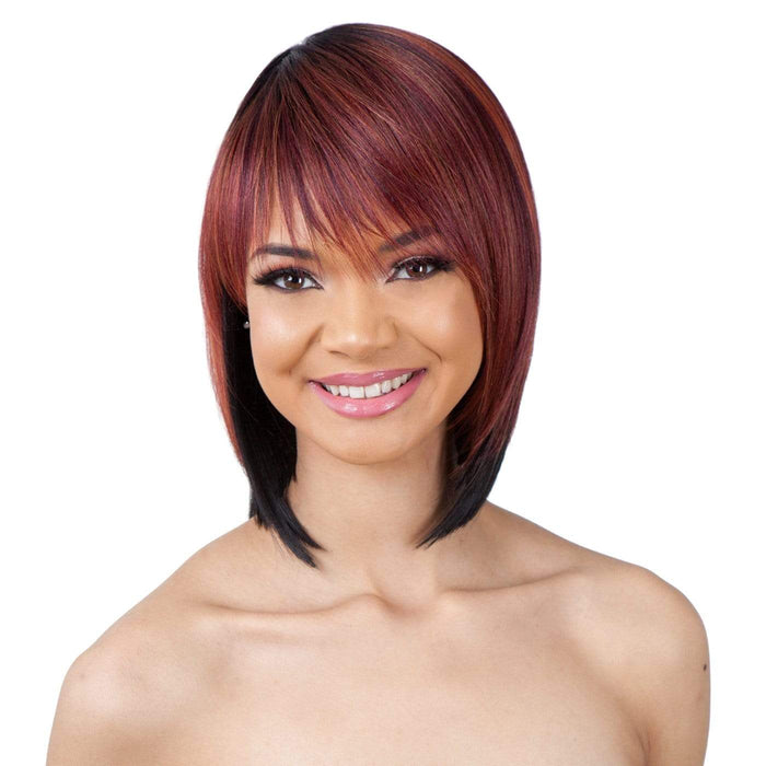 LITE WIG 002 | Synthetic Wig - Hair to Beauty | Color Shown: CMRDCOPPER