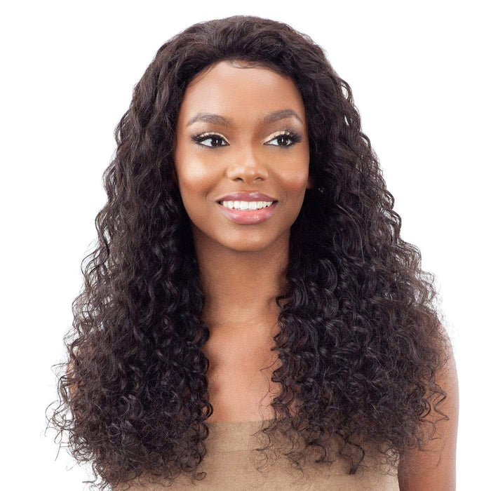 GF-D22 | Shake-N-Go Girl Friend Virgin Human Hair Lace Front Wig - Hair to Beauty | Color Shown: NATURAL