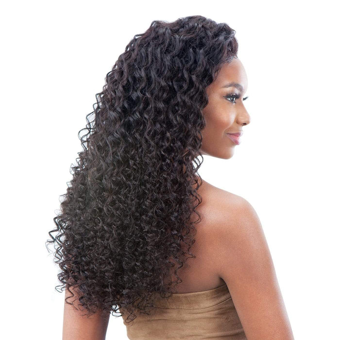 GF-D24 | Shake-N-Go Girl Friend Virgin Human Hair Lace Front Wig - Hair to Beauty | Color Shown: NATURAL