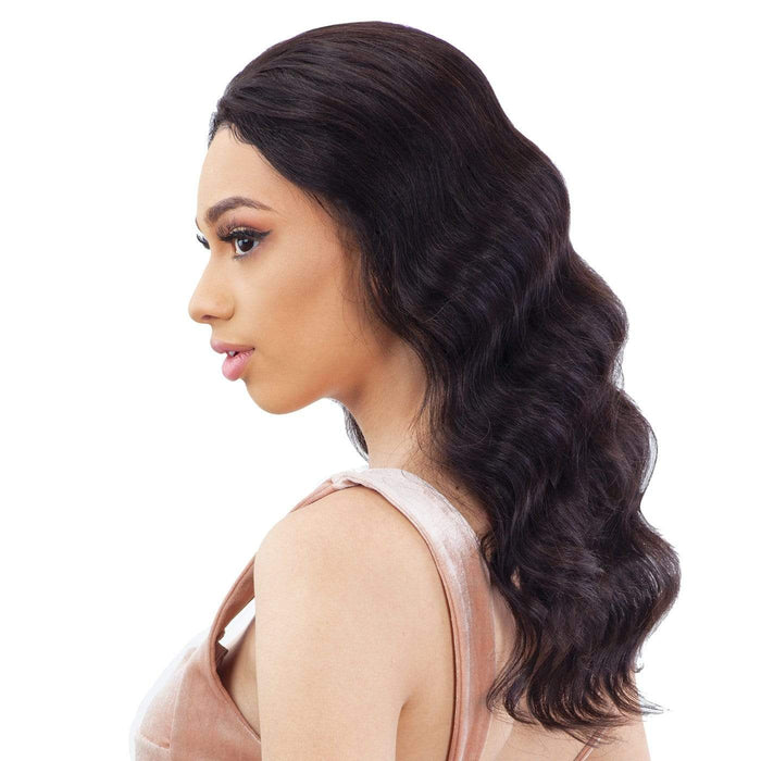 GF-L18 | Shake-N-Go Girl Friend Virgin Human Hair Lace Front Wig - Hair to Beauty | Color Shown: NATURAL