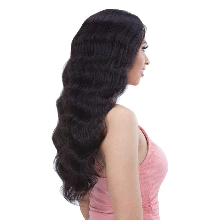 GF-L22 | Shake-N-Go Girl Friend Virgin Human Hair Lace Front Wig - Hair to Beauty | Color Shown: NATURAL