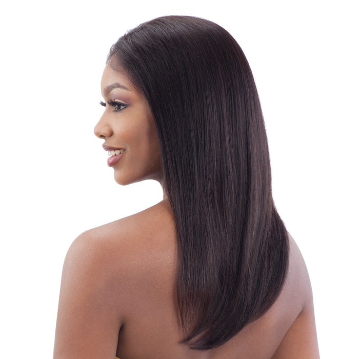 GF-S18 | Shake-N-Go Girl Friend Virgin Human Hair Lace Front Wig - Hair to Beauty | Color Shown: NATURAL