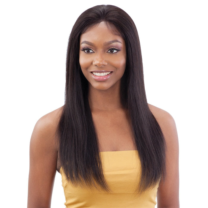 GF-S22 | Shake-N-Go Girl Friend Virgin Human Hair Lace Front Wig - Hair to Beauty | Color Shown: NATURAL