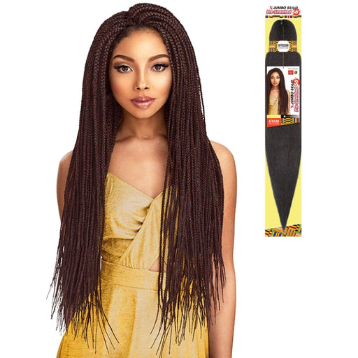 X-JUMBO PRE-STRETCHED BRAID 56 Inch | Sensationnel African Collection Kanekalon Braid - Hair to Beauty | Color Shown: