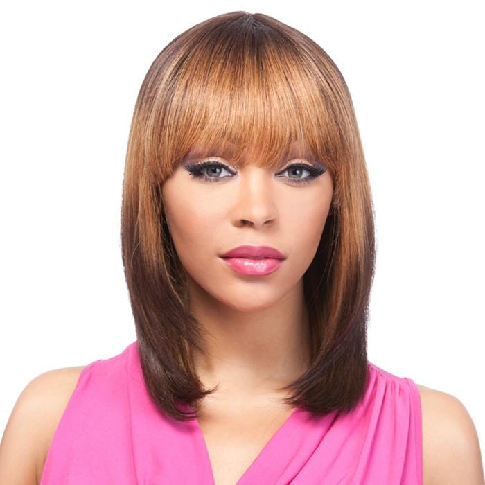 HH YAKI 1012 | It's a Wig! It's a Cap Weave Human Hair Wig - Hair to Beauty | Color Shown: TL6003