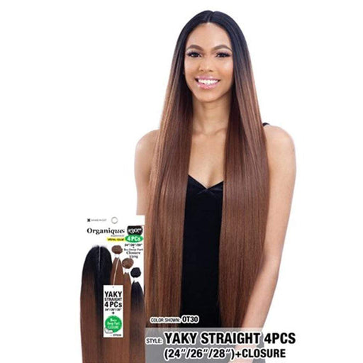 YAKY STRAIGHT 4PCS | Organique Mastermix Synthetic Weave | Color Shown: OT30 - Hair to Beauty