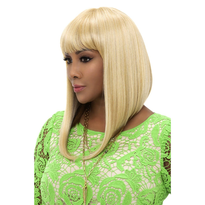 YEVA | Vivica A. Fox Synthetic Pure Stretch Cap Wig - Hair to Beauty | Color Shown: GM613/27