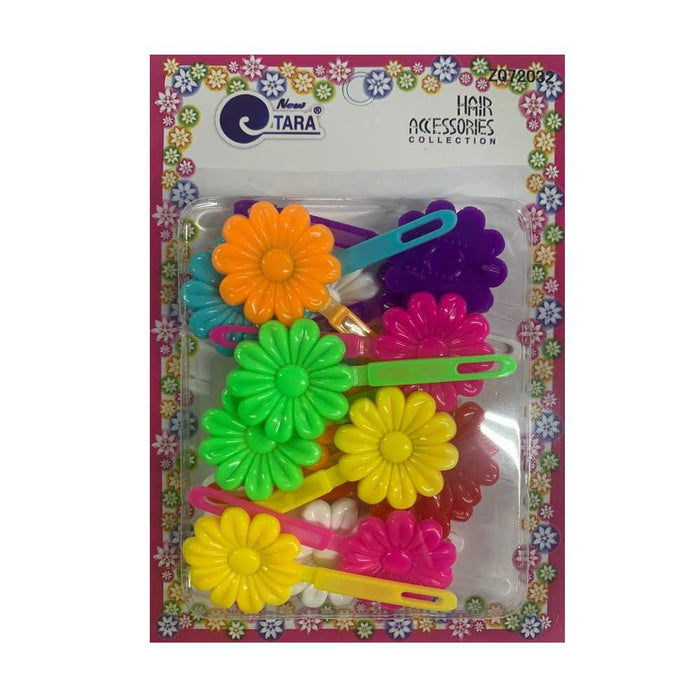 ZQ72032 | Assorted Color Flower Barrettes.