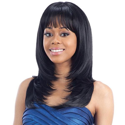 NEW SAN FRANCISCO l FreeTress Synthetic Band Fullcap Wig - Hair to Beauty l Color Shown: 1B