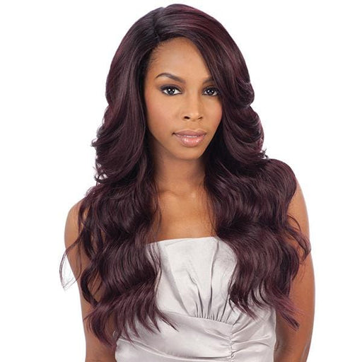 DANITY l FreeTress Synthetic Natural Collection Deep Invisible L Part Lace Front Wig - Hair to Beauty l Color Shown: OP430