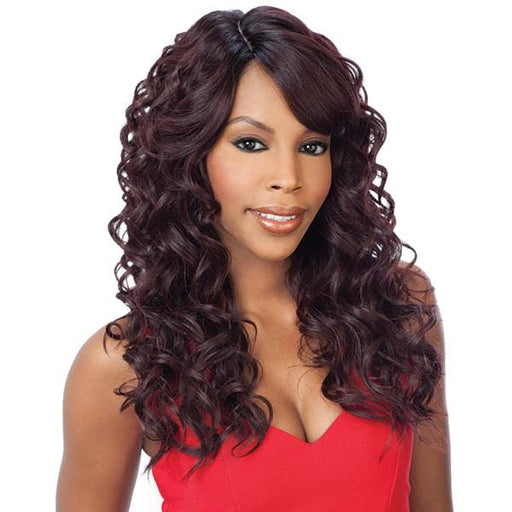 LACE BENTLY l FreeTress Synthetic Invisible Part Lace Front Wig - Hair to Beauty l Color Shown: OP99J