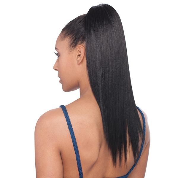 EQUAL YAKY STRAIGHT 14 INCH l FreeTress Synthetic Drawstring Ponytail - Hair to Beauty l Color Shown:1B