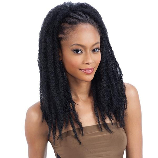 JAMAICAN TWIST GIRL l FreeTress Synthetic Braided Drawstring Ponytail - Hair to Beauty l Color Shown: 1B