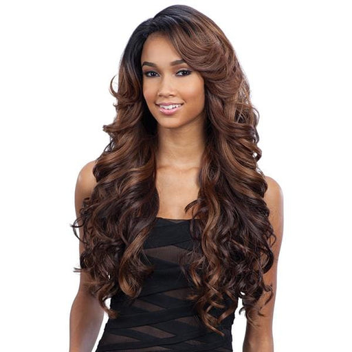 KARISSA l FreeTress Synthetic Lace Front Deep Invisible L part Wig - Hair to Beauty l Color Shown: OH227144