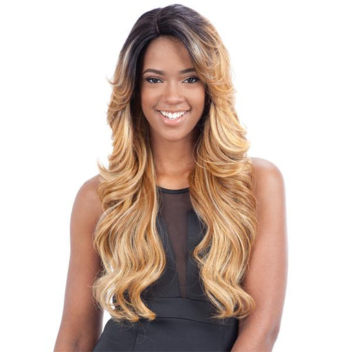 MIZZY | Synthetic Deep Invisible Part Lace Front Wig.