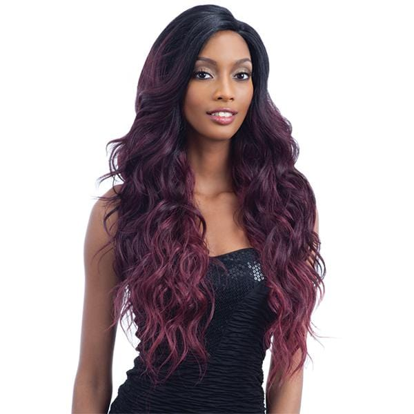 V-002 l FreeTress Synthetic Premium V-Shaped Delux Lace Front Wig - Hair to Beauty l Color Shown:
