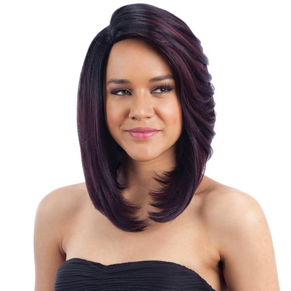 MADANI l FreeTress Synthetic 6 inch Side Part Lace Front Wig - Hair to Beauty l Color Shown: GX AUBURN