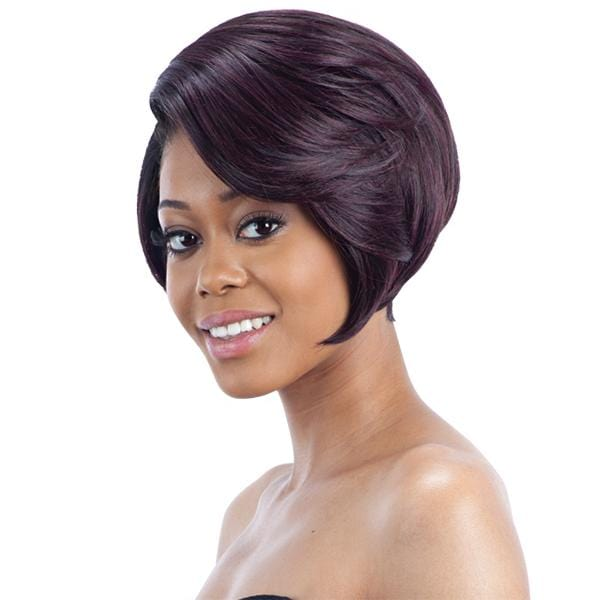 NINE PART 901 l FreeTress Synthetic Kama Nine Part Lace Front Wig - Hair to Beauty l Color Shown: OT99J