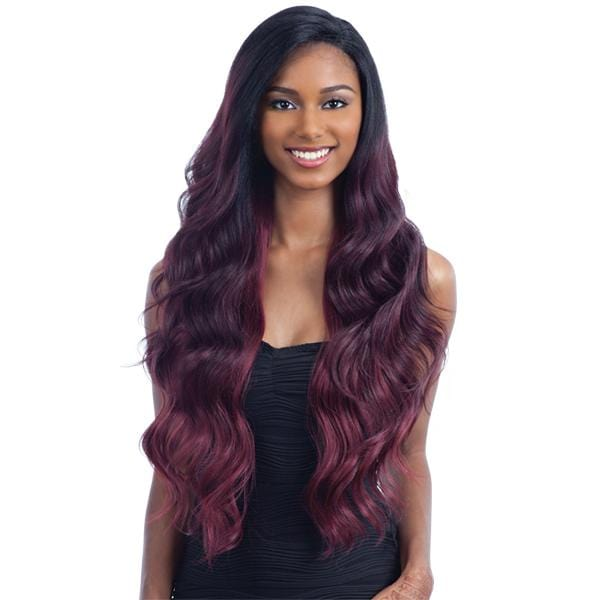 V-004 l FreeTress Synthetic Premium V-Shaped Delux Lace Front Wig - Hair to Beauty l Color Shown: SOP20503