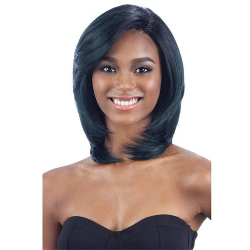 SAMINA l FreeTress Synthetic Premium Delux Wig - Hair to Beauty l Color Shown: OTFOREST