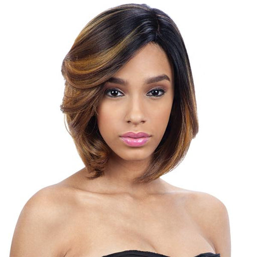 SIA l FreeTress Synthetic Premium Delux Wig - Hair to Beauty l Color Shown: SOH27GD30