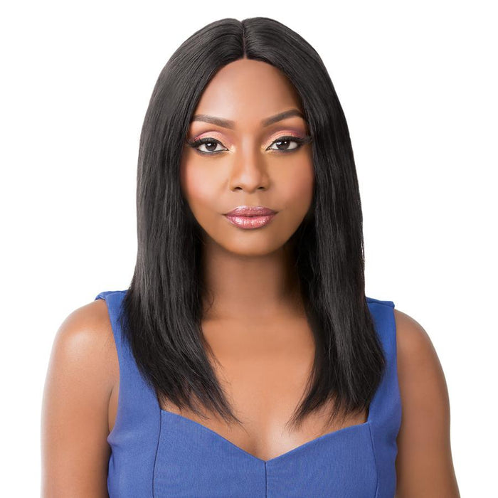 WET N WAVY BOHEMIAN WAVE | Salon Remi Human Hair Swiss Lace Front Wig - Hair to Beauty | Color Shown: 1B