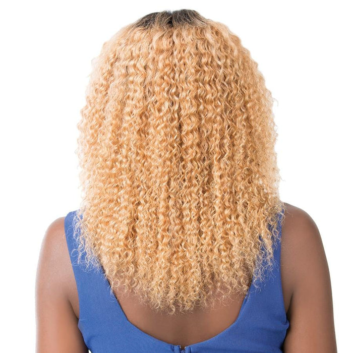 WET N WAVY BOHEMIAN WAVE | Salon Remi Human Hair Swiss Lace Front Wig - Hair to Beauty | Color Shown: TT27