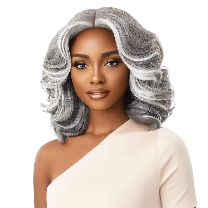 NEESHA 204 | Soft & Natural Lace Front Wig - Hair To Beauty | Color Shown : FF Twilight Gray