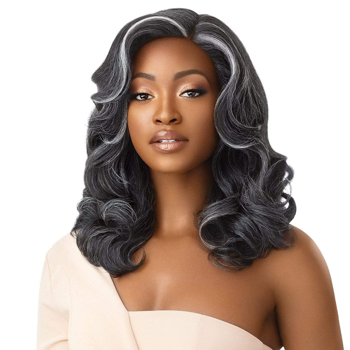 NEESHA 205 | Soft & Natural Lace Front Wig - Hair To Beauty | Color Shown : FF Midnight Gray