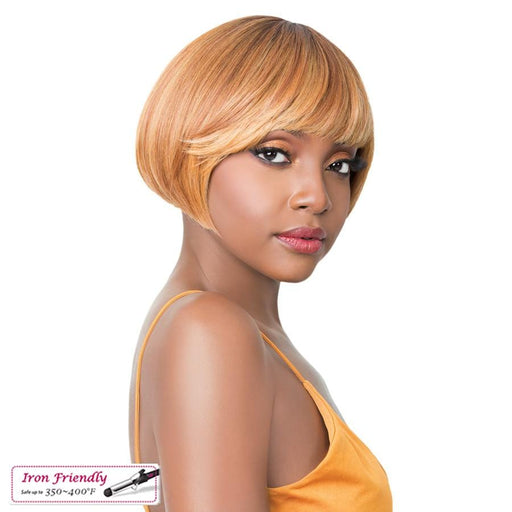 Q BORY | Synthetic Wig - Hair to Beauty | Color Shown: TT HONEY GINGER
