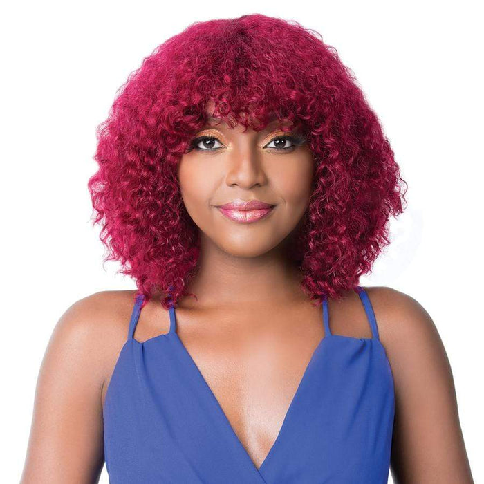 WET N WAVY NICK | Salon Remi Human Hair Wig - Hair to Beauty | Color Shown: BURGUNDY