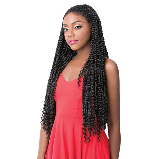 PASSION TWIST | Synthetic Swiss Lace Front Wig - Hair to Beauty | Color Shown: 1B