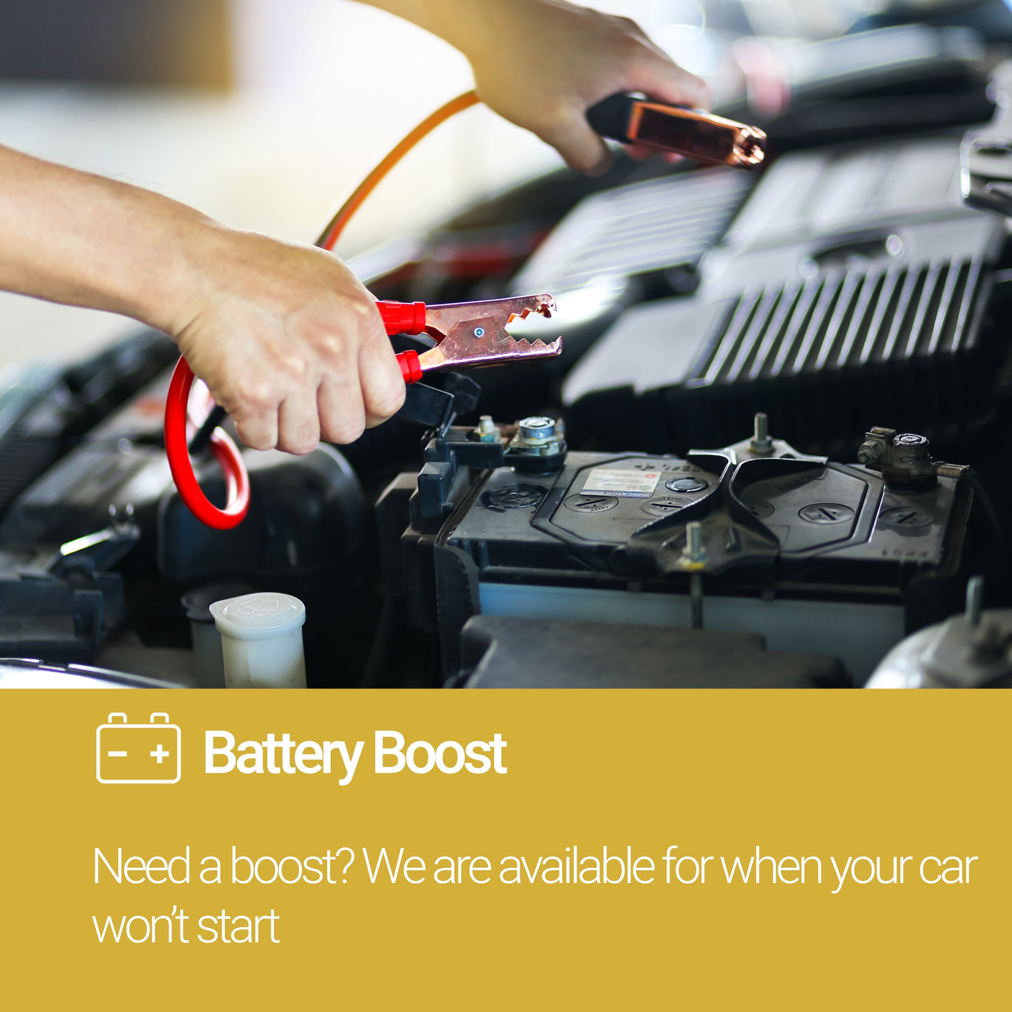 Roadside Assistance Gold Plan Battery Boost Service
