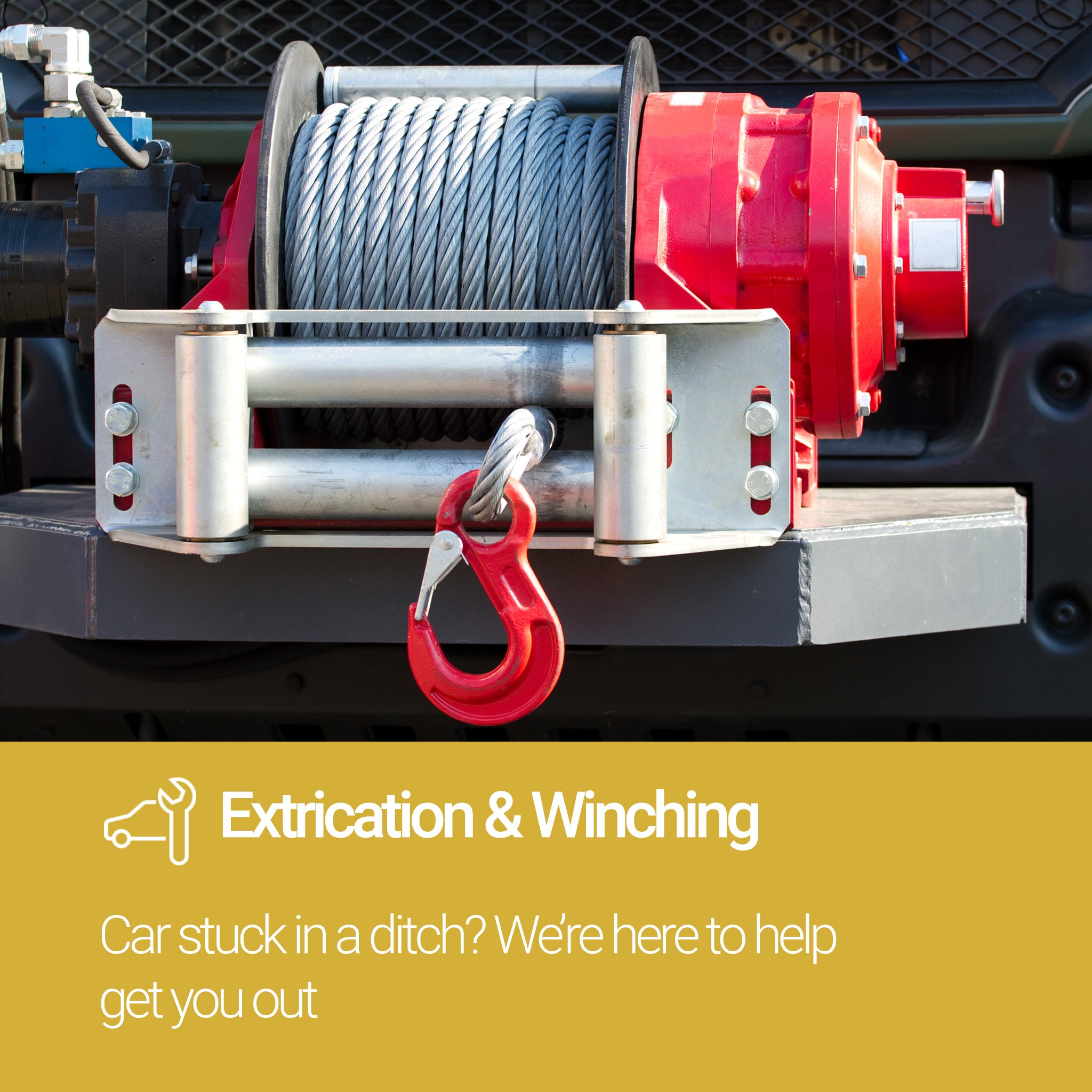 Roadside Assistance Gold Plan Extrication and Winching Service