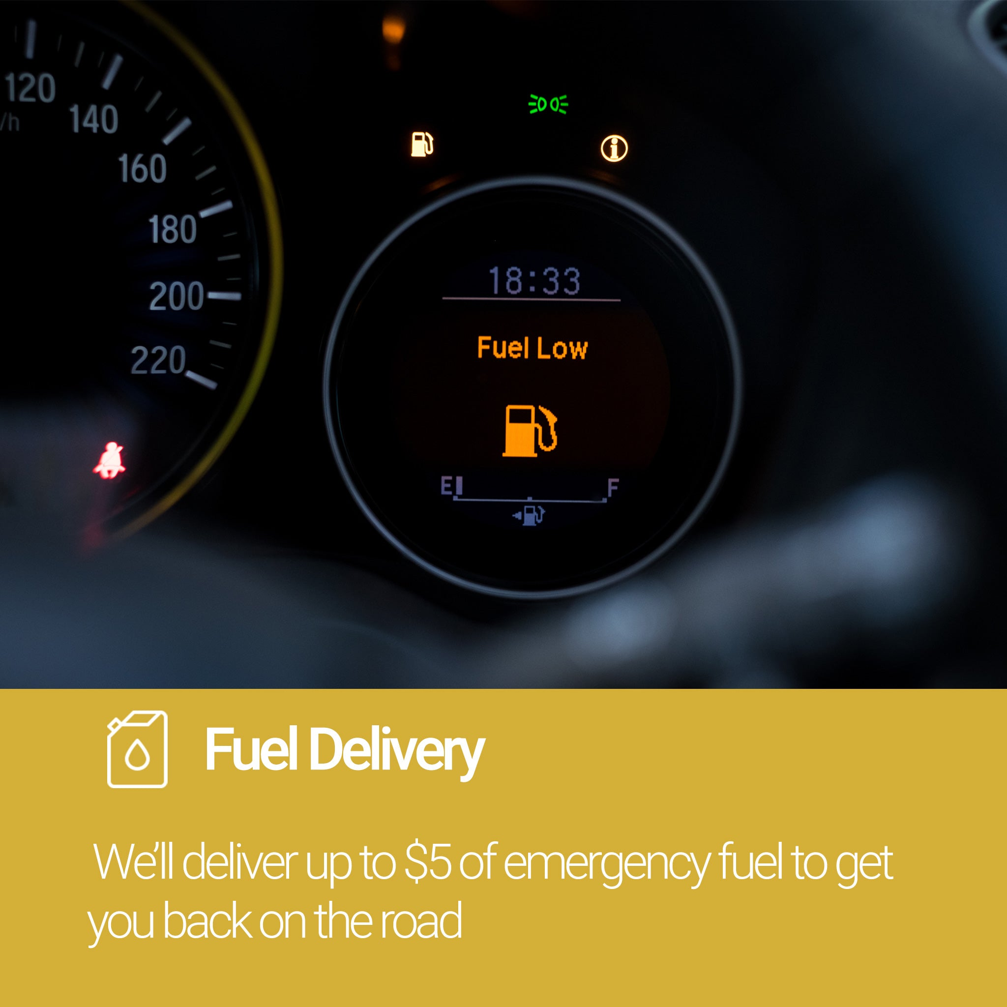 Roadside Assistance Gold Plan Fuel Delivery Service