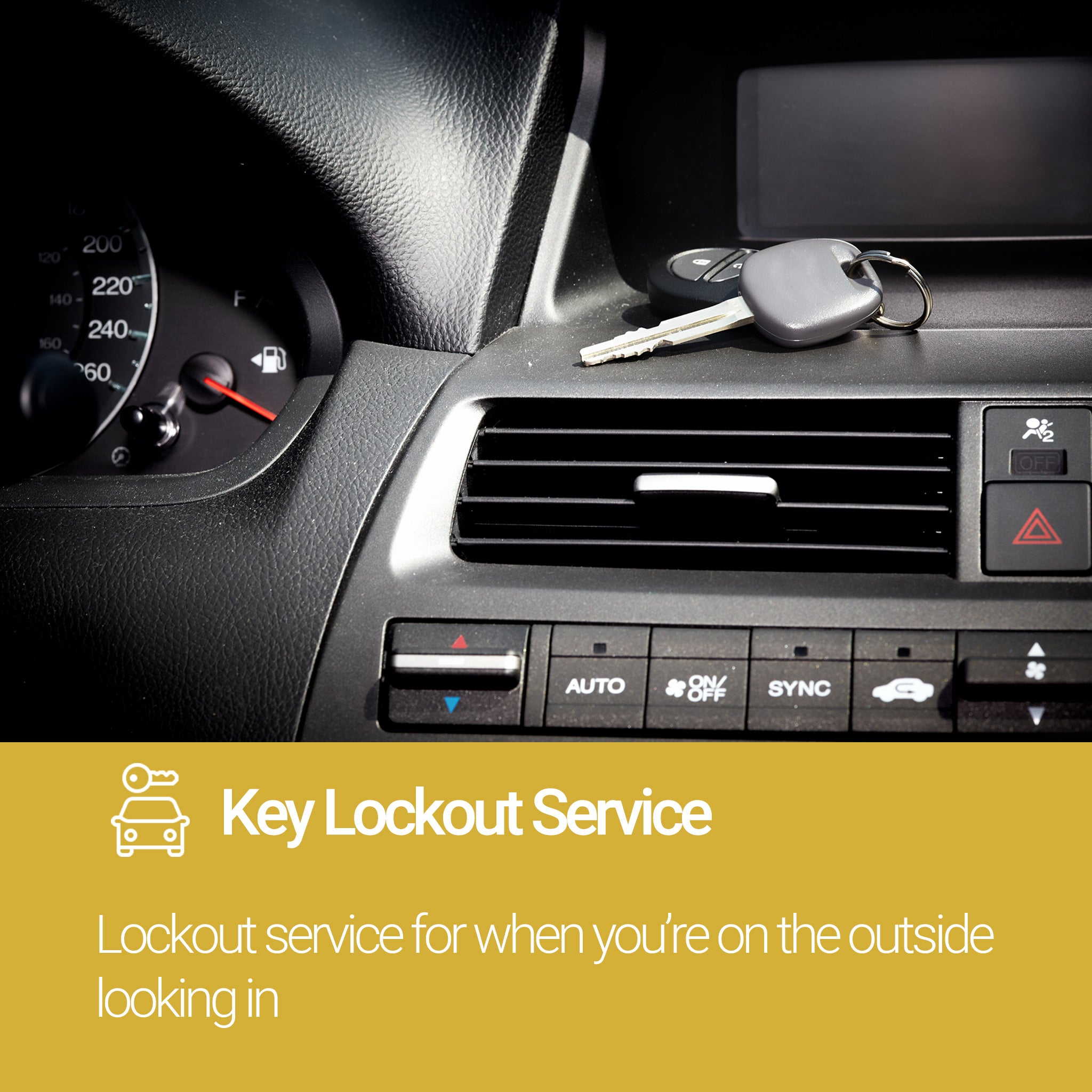 Roadside Assistance Gold Plan Key Lockout Service