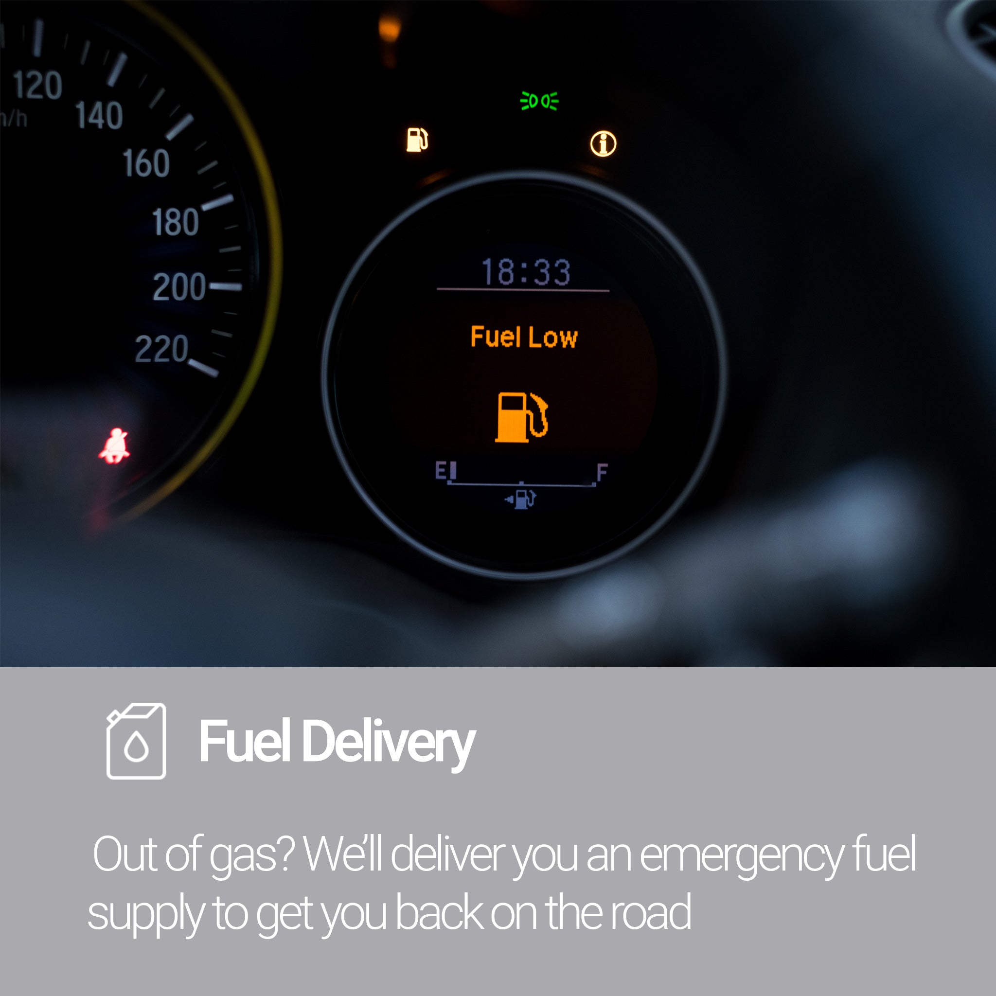 Roadside Assistance Silver Plan Fuel Delivery Service