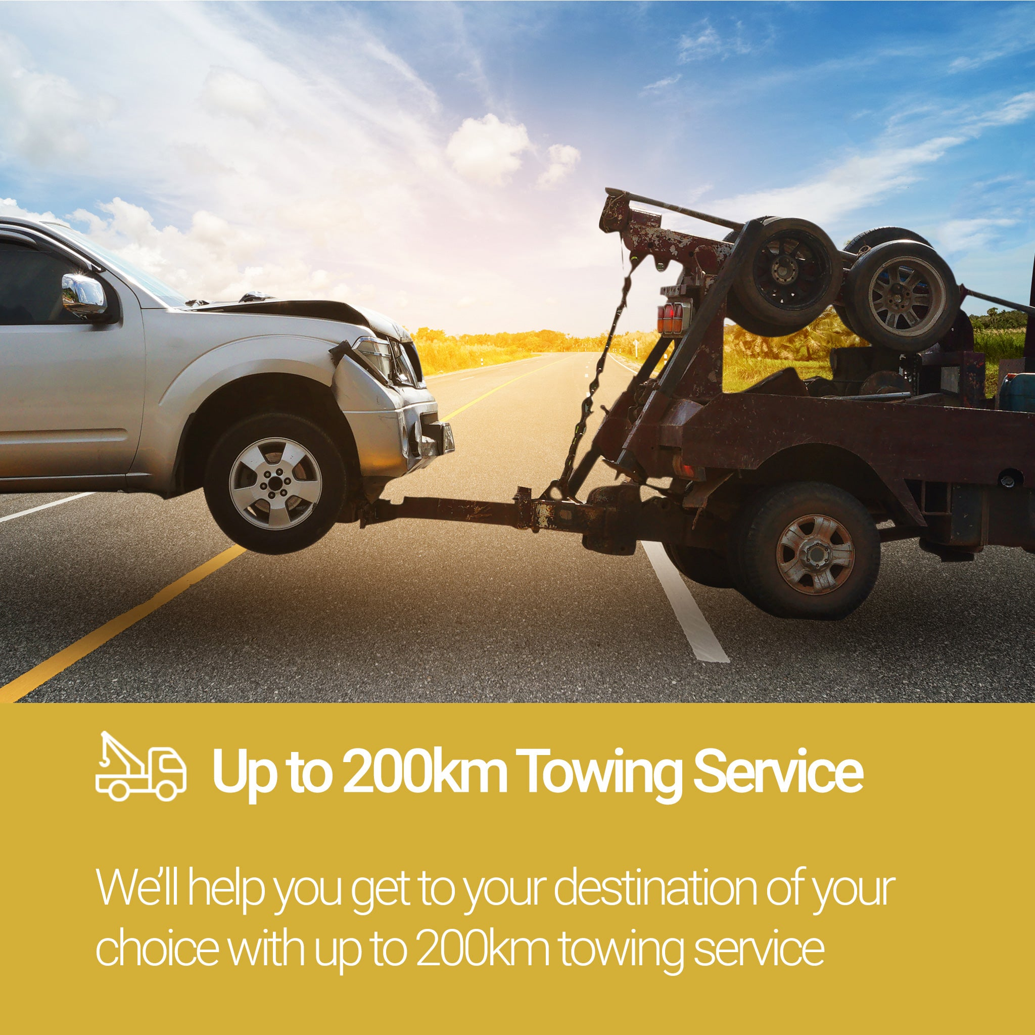 Roadside Assistance Gold Plan Towing Service