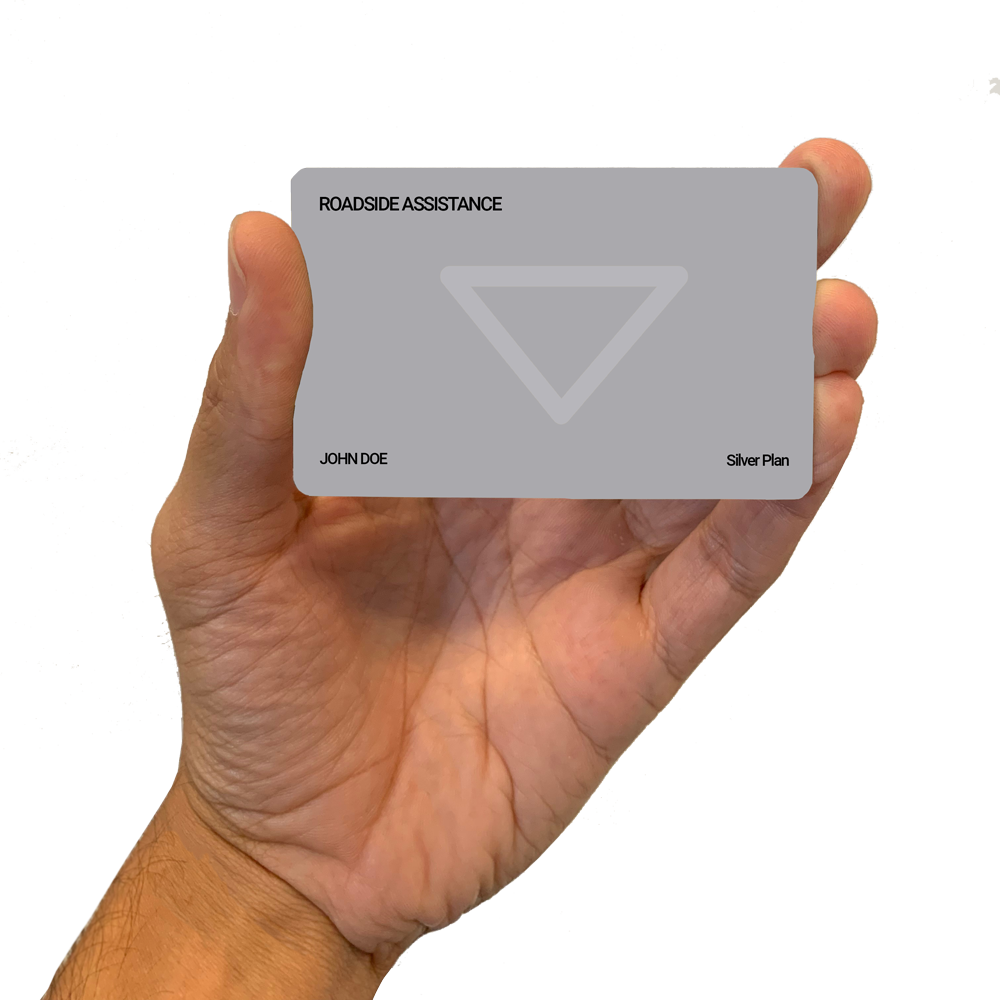 Roadside Assistance Silver Plan Card