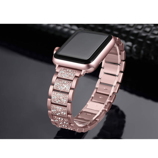 rose gold apple watch metal band for sale