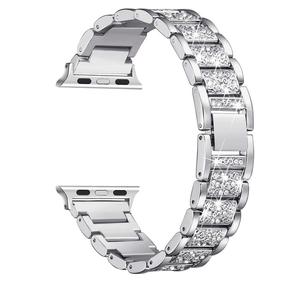silver apple watch band for sale
