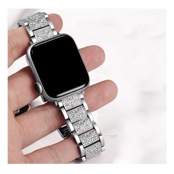 cute apple watch bands silver